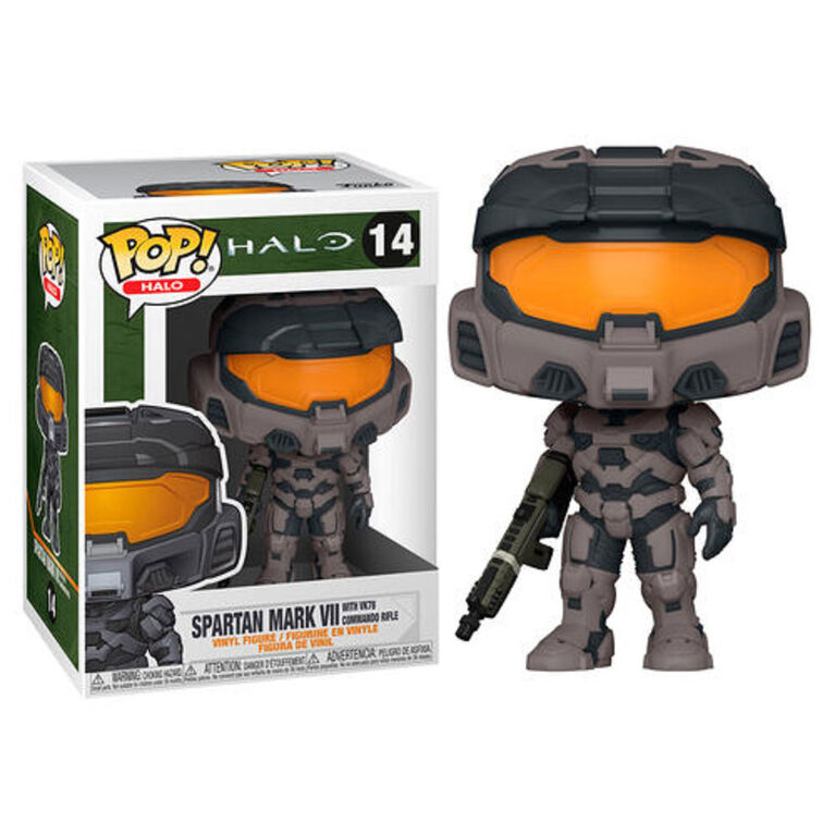 Figurine en Vinyle Spartan Mark VII with VK78 Commando Rifle par Funko POP! Halo