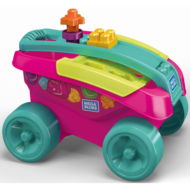 Mega Bloks Shape Sorting Wagon - Pink