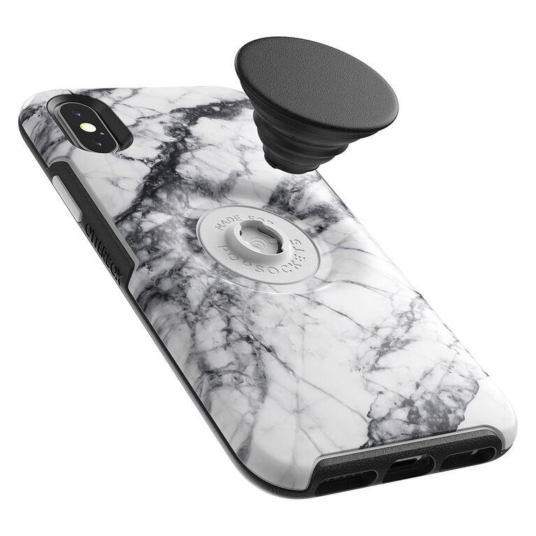 Otterbox Otter+Etui Pop Symmetry PopTop Marbre Blanc pour iPhone XS/X