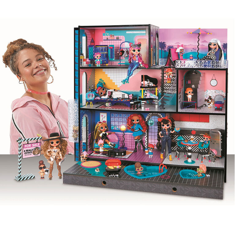 L.O.L. Surprise! O.M.G. House - Real Wood Doll House with 85+ Surprises