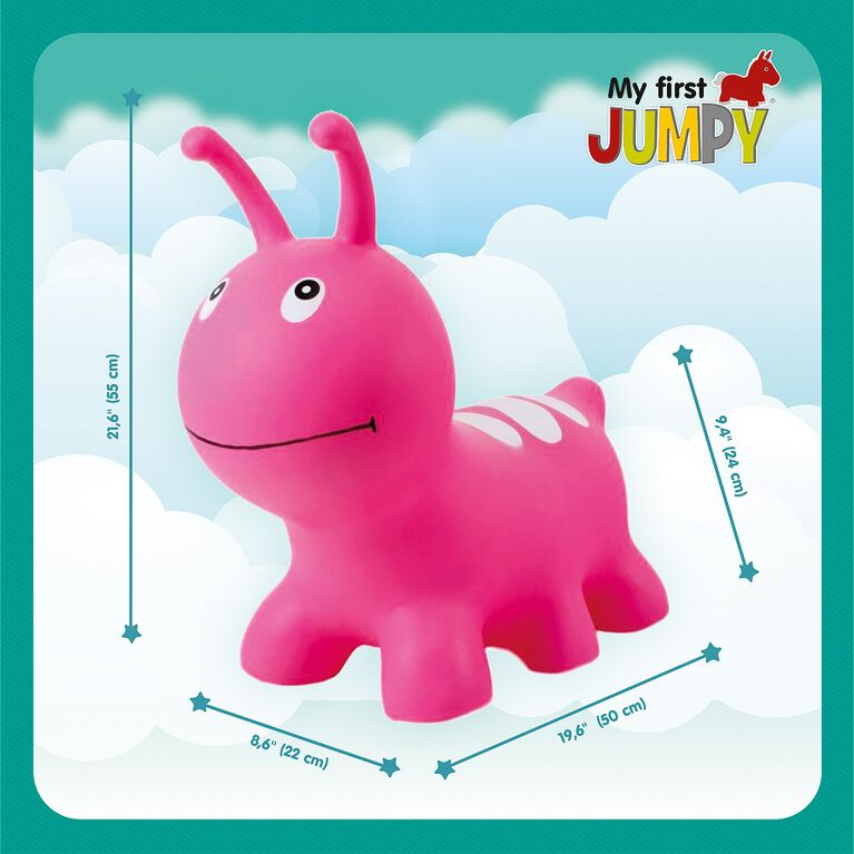 My First Jumpy Wormy - pink