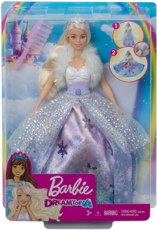 Barbie Dreamtopia Fashion Reveal Princess Doll, 12-inch, Blonde with Pink Hairstreak