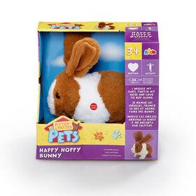 Pitter Patter Pets  - Happy Hoppy Bunny  - Marron et Blanc - Notre exclusivité