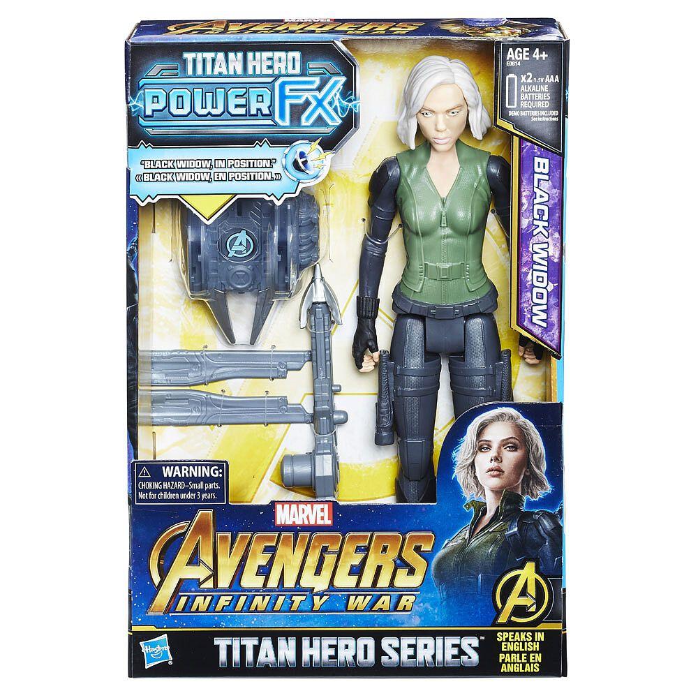 """Avengers Infinity guerre Titan Hero Power FX Series-Black Widow 11/"""" ACTION FIGURE!"""