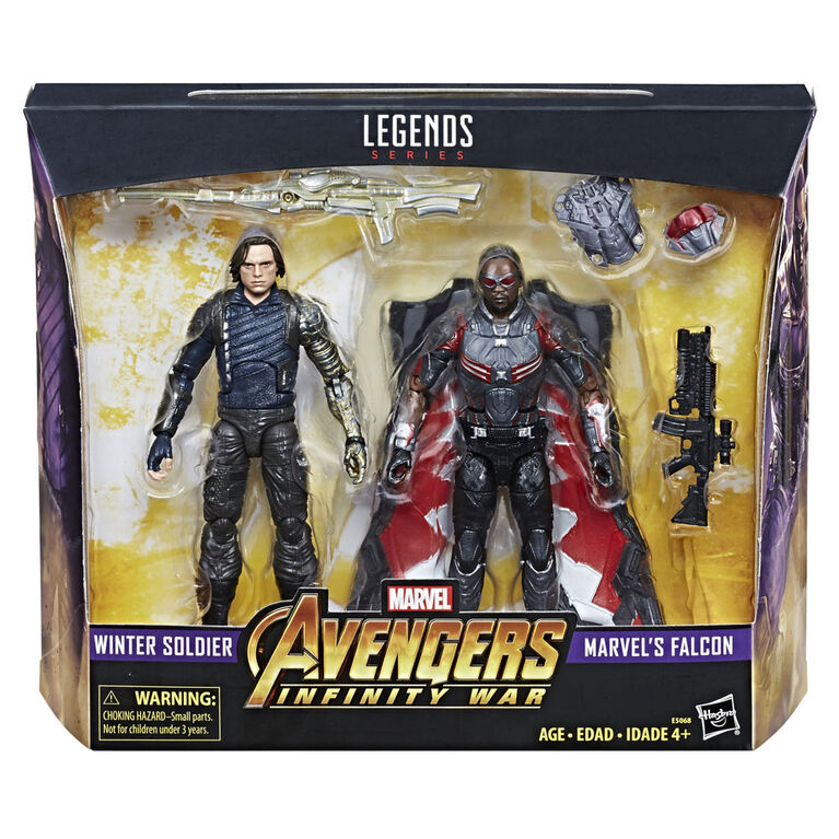 Marvel Legends Series 6-inch Winter Soldier & Marvel's Falcon Figure 2-Pack - R Exclusive