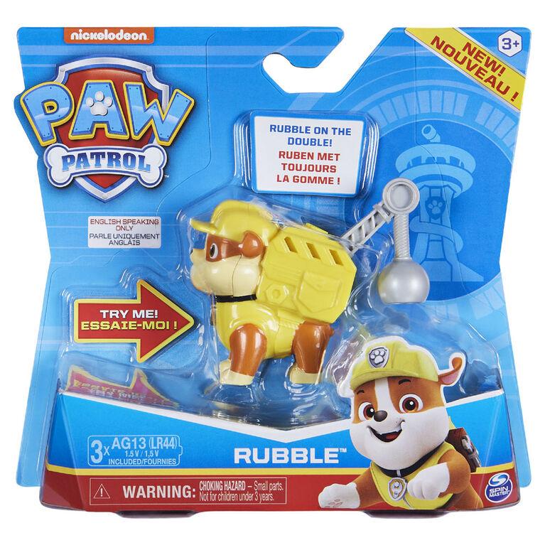 PAW Patrol, Figurine à collectionner Ruben Action Pack avec effets sonores et phrases