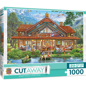 "1000PC EZgrip Cut-Away ""Camping Lodge"" Large 1000 Piece Jigsaw Puzzle"