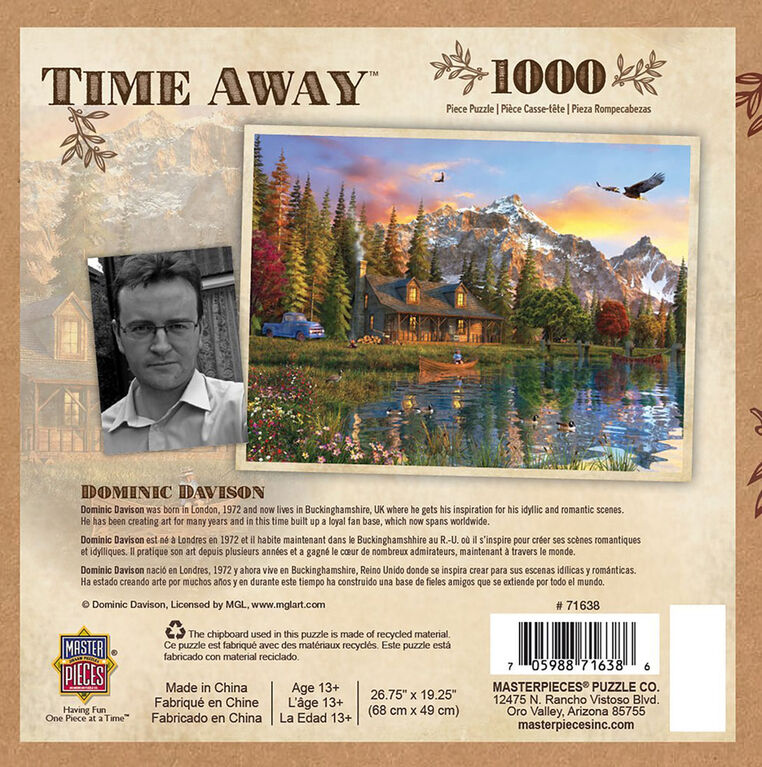 MasterPieces Time Away Eagle View - Fishing 1000 Piece Jigsaw Puzzle by Dominic Davidson