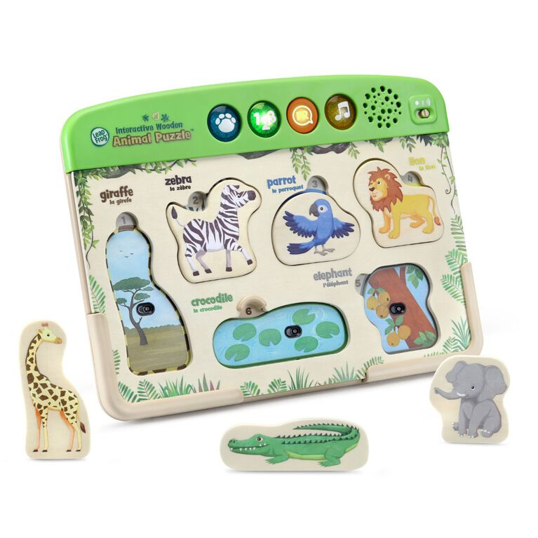 LeapFrog Interactive Wooden Animal Puzzle - English Edition