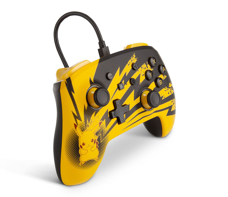 Nintendo Switch Enhanced Wired Controller Lightning Pikachu