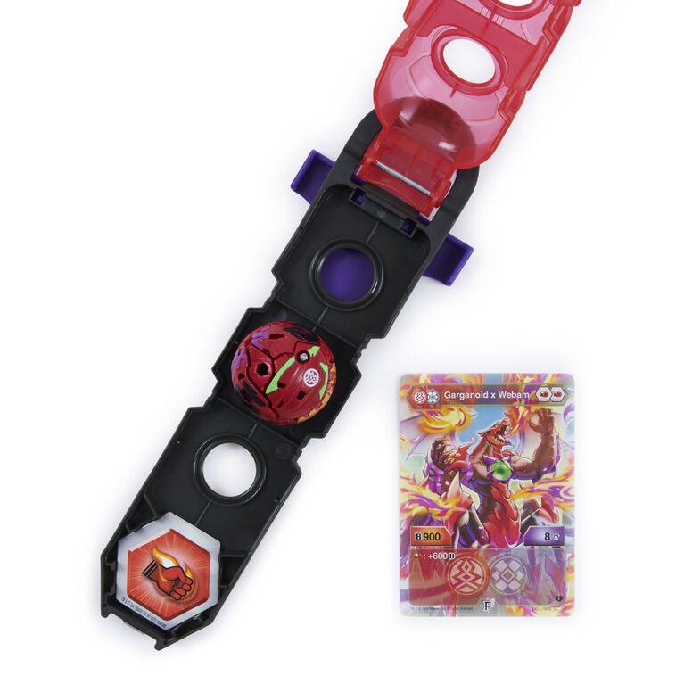 Bakugan, Accessoire de rangement Baku-Clip avec Bakugan Fusion Garganoid x Webam exclusif - Notre exclusivité