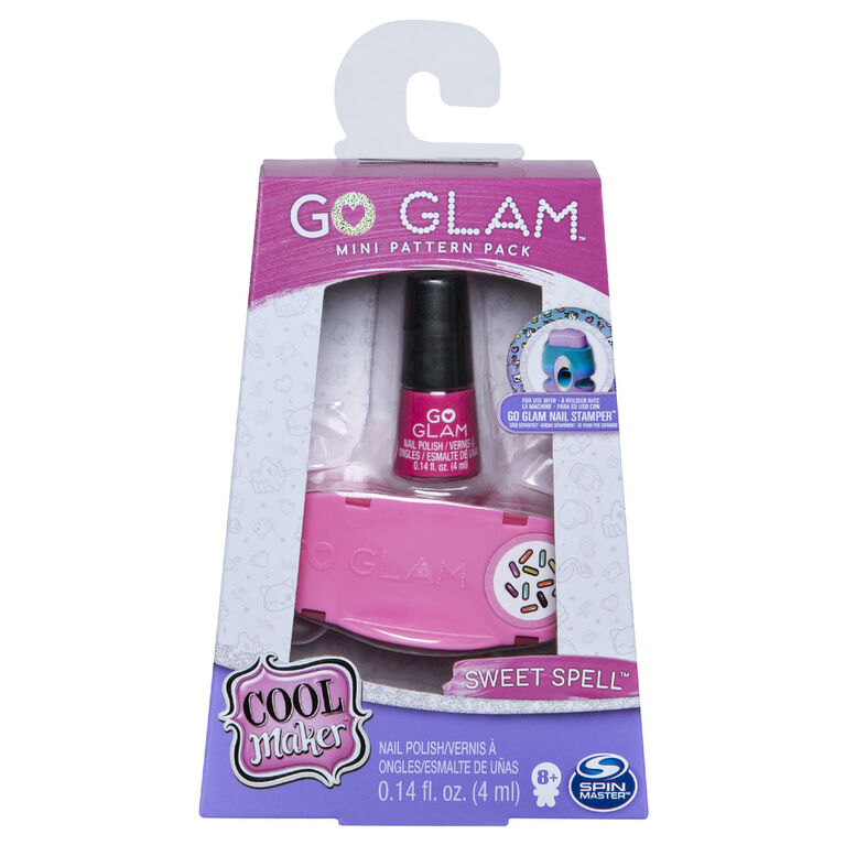Cool Maker, GO GLAM Sweet Spell Mini Pattern Pack Refill, Decorates 25 Nails with the GO GLAM Nail Stamper