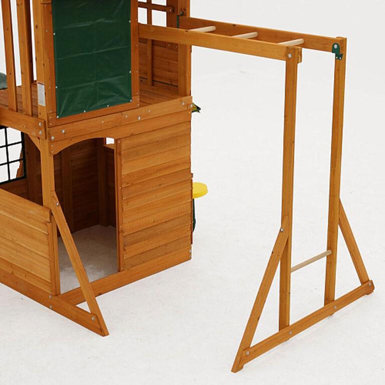 KidKraft Ridgeview Deluxe Clubhouse Wooden Swing Set