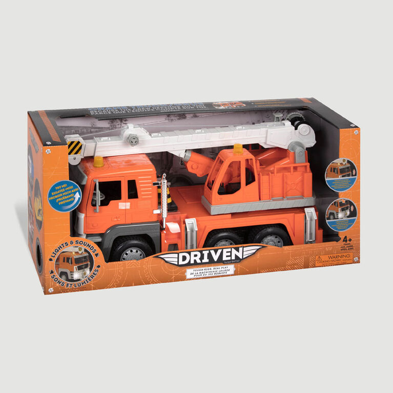 Driven, Toy Crane Truck with Lights and Sounds