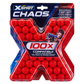 Zuru X-Shot Chaos 100-Pack Dartball Refill