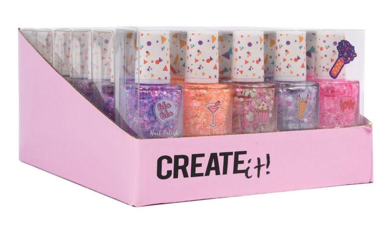 CREATE IT! Nail Polish Confetti 5-Pack Display