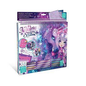 Cahier à colorier - Chevaux fantastiques - Galaxie