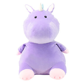 Animal Adventure Squeeze With Love Jumbo Over-Stuffed Ultra-Soft Plush Lavender Unicorn