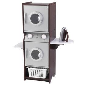 KidKraft - Laundry Play Set - Espresso