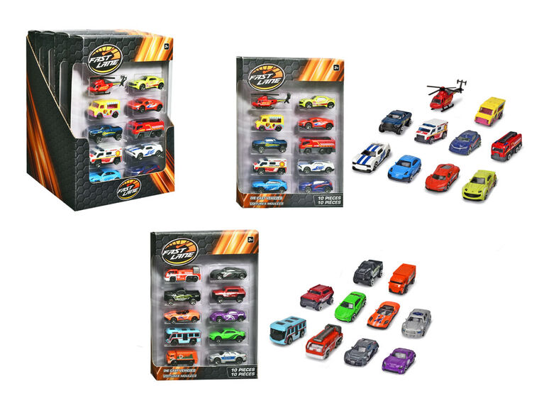 10 Pack Diecast Vehicles - Assortment May Vary