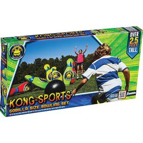 KONG SPORTS Gorilla Size Bowling Set – over 25 feet tall