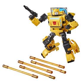 Transformers trilogie War for Cybertron Buzzworthy Bumblebee, figurine Origin Bumblebee classe Deluxe  - Notre exclusivité