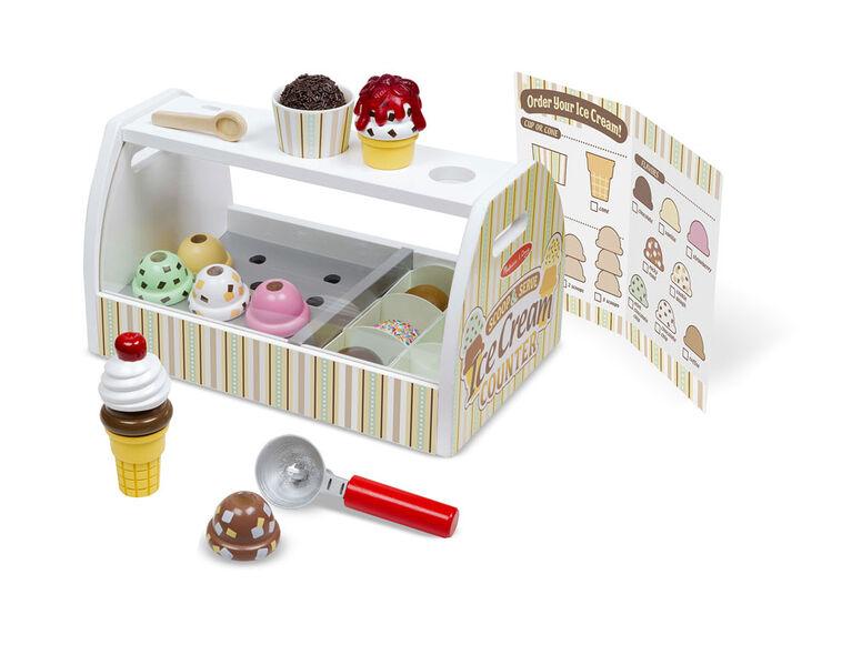Melissa & Doug - Comptoir de crème glacée Scoop & Serve