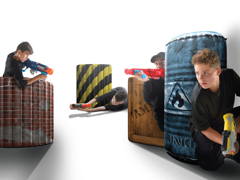 BUNKR Battlezones - Competition Pack - Inflatable Game Field - 4 Piece Set