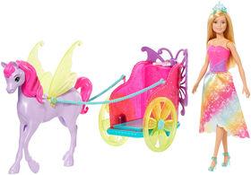 Barbie - Dreamtopia - Princesse, Pegase et char
