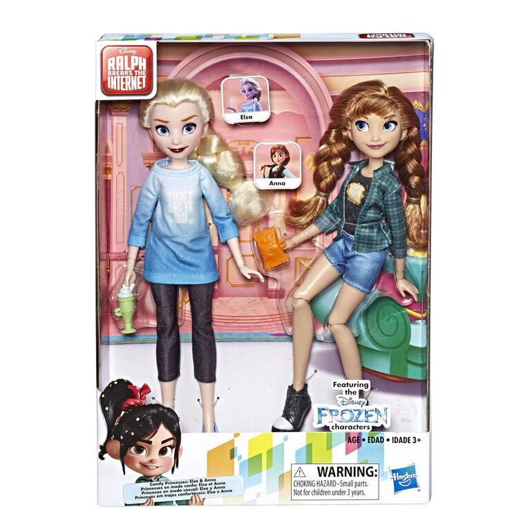 Disney Princess - Poupées Elsa et Anna inspirées du film Ralph brise l'Internet