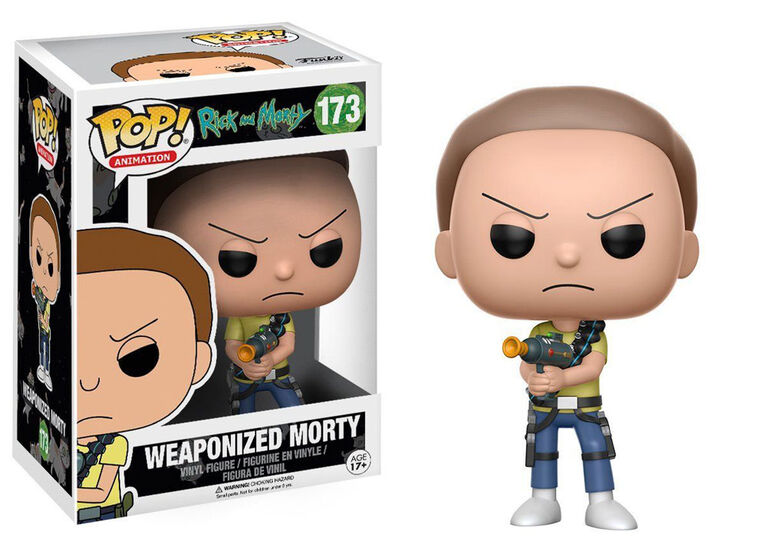Funko POP! Animation: Rick and Morty - Weaponized Morty Vinyl Figure