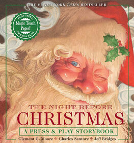 Night Before Christmas Press & Play Storybook: The Classic Edition Hardcover Book Narrated by Jeff Bridges - English Edition