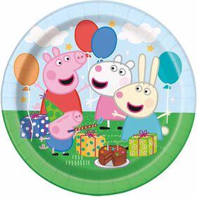 "Peppa Pig  7""  Plates, 8 pieces"