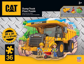 "36 Piece Floor Puzzle - ""Caterpillar Dump Truck"""