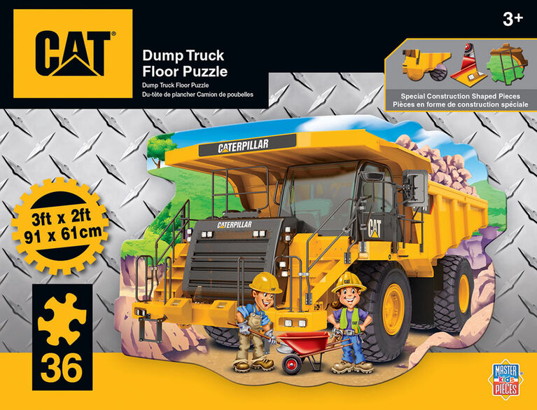 "36 Piece Floor Puzzle - ""Caterpillar Dump Truck"""