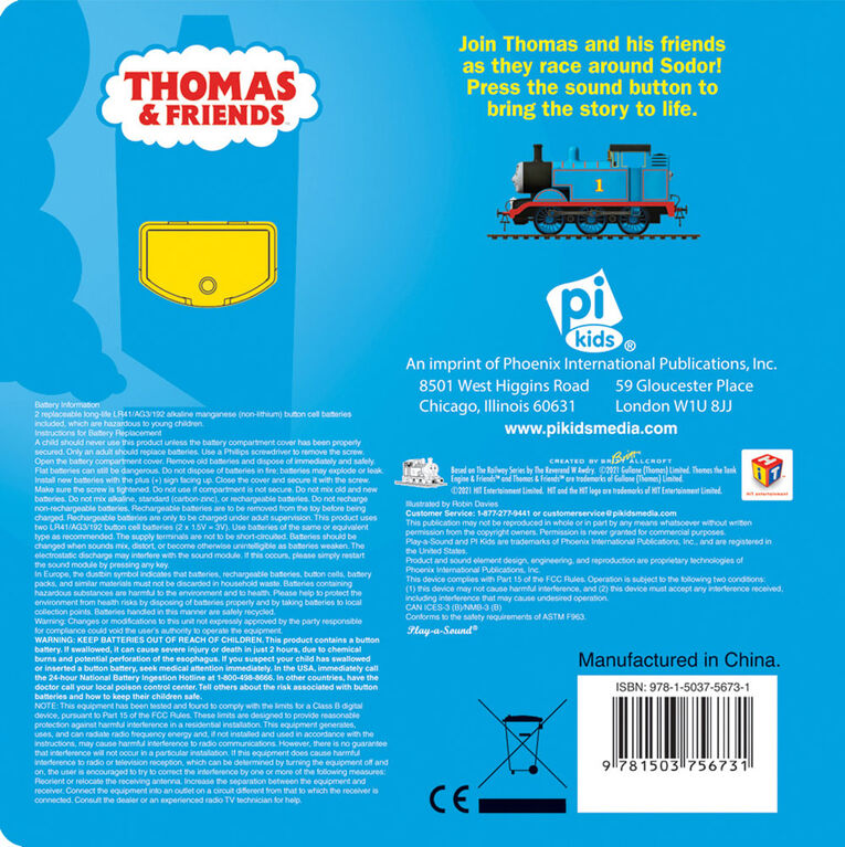 1 Button Sound Book Thomas And Friends - English Edition
