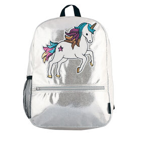 Fashion Angels - Silver Shimmer Sequin Unicorn Backpack