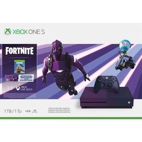 Xbox One S 1TB Hardware Fortnite Purple