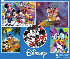 Ceaco Disney Classiques 5 en 1 Multi Pack Puzzles Mickey et Ses Amis