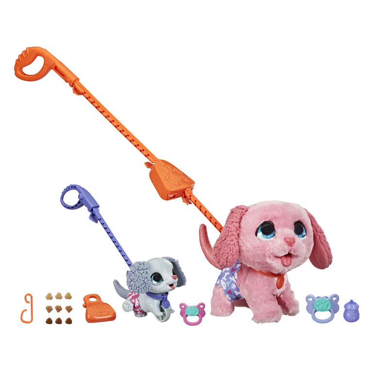 furReal Potty Training Pups Interactive Pet Toy, Connectible Leash System - R Exclusive