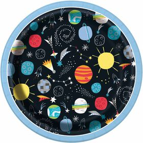 """Outer Space  7""""  Plates, 8 pieces"""