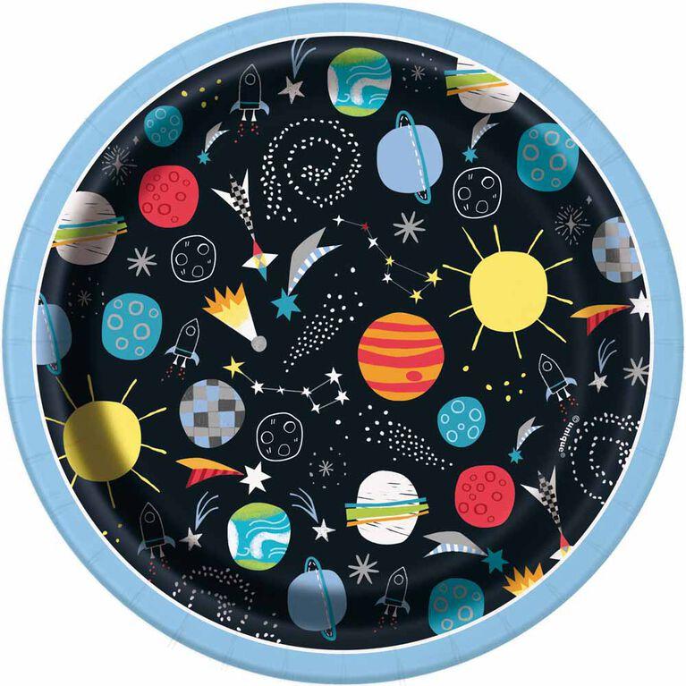 Outer Space Assiettes 7po, 8un
