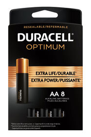 Duracell Optimum AA Batteries 8 Count Pack | Long Lasting Power Double A Battery