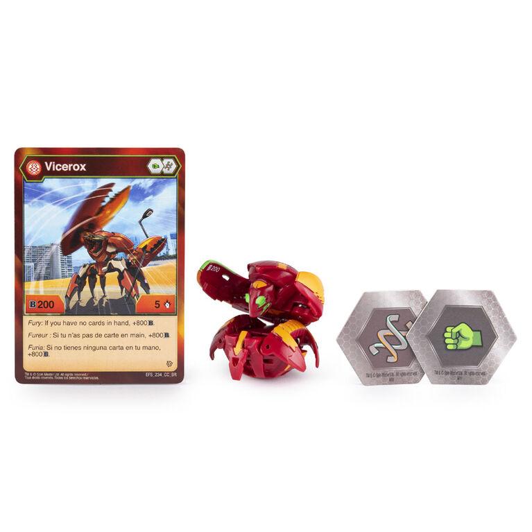 Bakugan, Pyrus Vicerox, Créature transformable à collectionner de 5 cm