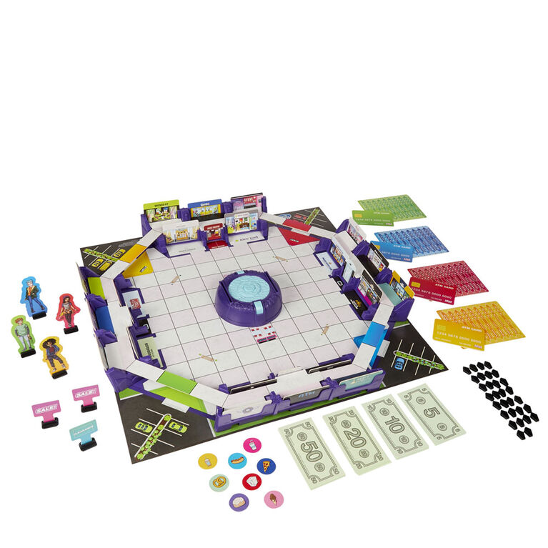 Mall Madness Game, Talking Electronic Shopping Spree Board Game, for 2 to 4 Players - English Edition - R Exclusive