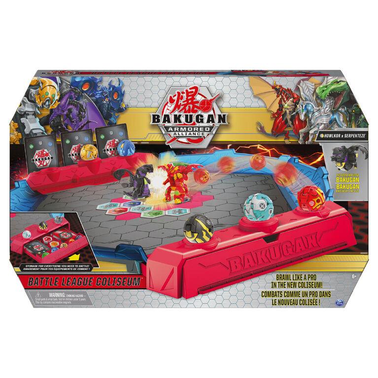 Bakugan Battle League Coliseum, Deluxe Game Board with Exclusive Fused Howlkor x Serpenteze Bakugan