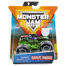Monster Jam, Official Grave Digger Monster Truck, Die-Cast Vehicle, Legacy Trucks Series, 1:64 Scale