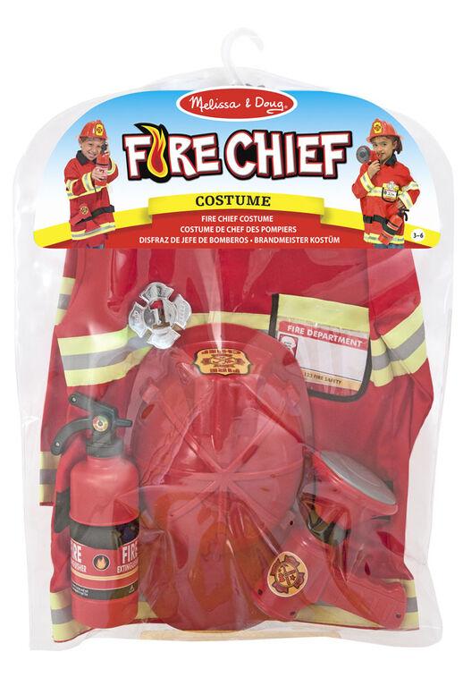Melissa & Doug Costume de chef des pompiers