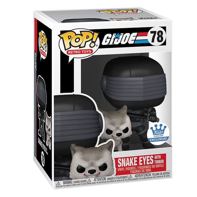 Figurine en Vinyle Snake Eyes with Timber par Funko POP! Snake Eyes - Notre exclusivité