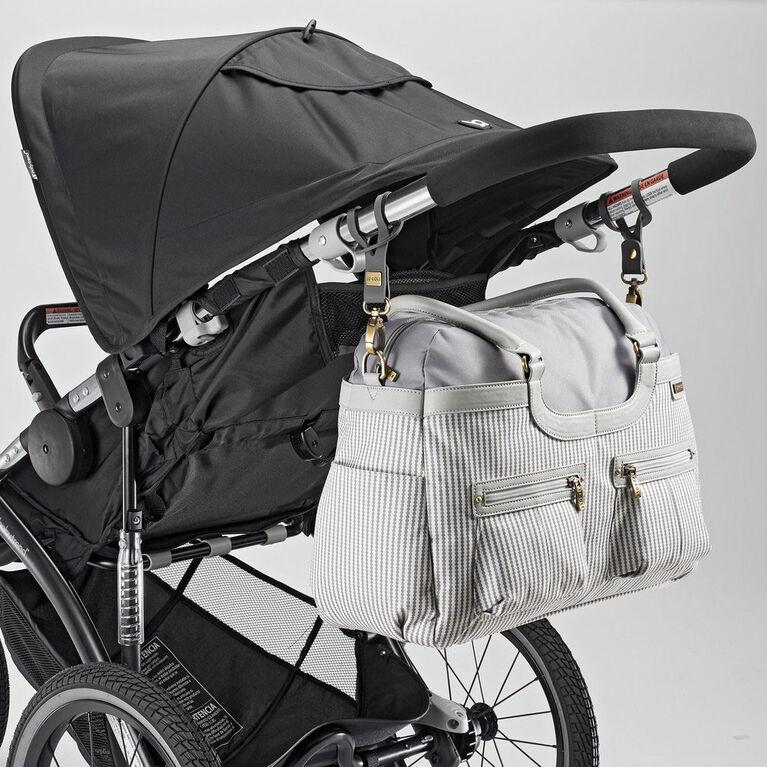 JJ Cole Satchel Baby Diaper Bag Grey Circle Stripe